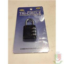 Замок навесной кодовый Tri-Circle ZB 35 корпус цинк