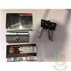 Цилиндр Abloy Novel CY322, ключ-ключ, размер 65 (32,5x32,5) мм, хром