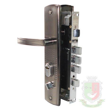 Врезной замок для китайских дверей узкий корпус с ручками на Правую дверь
