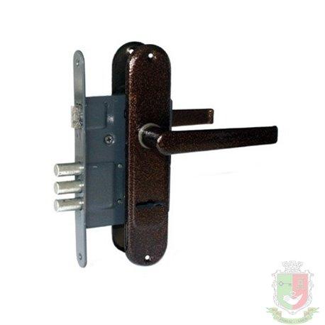 Замок врезной  с ручкой Тандем ЗВ-9 для калитки бабочка ключ