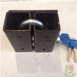 Замок навесной Тех Прес ВС-1-1ДТП  с СУПЕР Защитой лазерный ключ