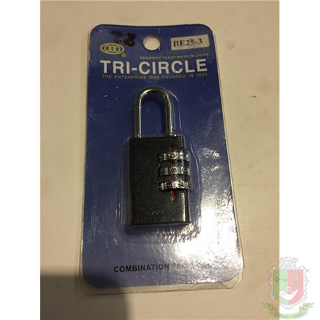 Замок навесной кодовый Tri-Circle BE25-3