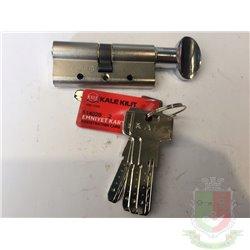 Цилиндровый механизм Kale 164 DBME 80 mm (35+10+35) ключ вертушка с защитой от перелома